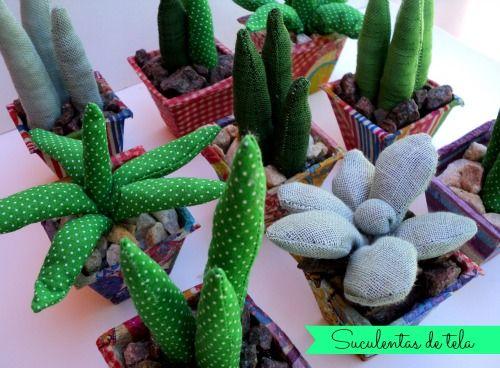 Cactus Arredamento ~ Hace un tiempo hice cactus de tela para vender ahora quise