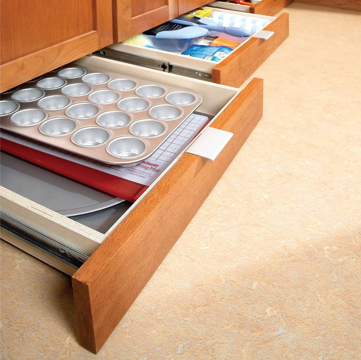 How To Build Under Cabinet Drawers Increase Kitchen Storage Under Cabinet Drawers Kitchen Storage Hacks Diy Kitchen Storage