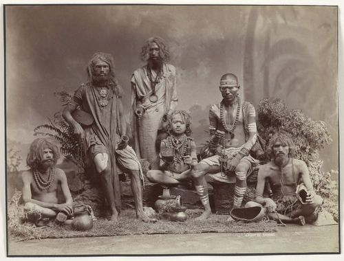 Group of Yogis, 1880
