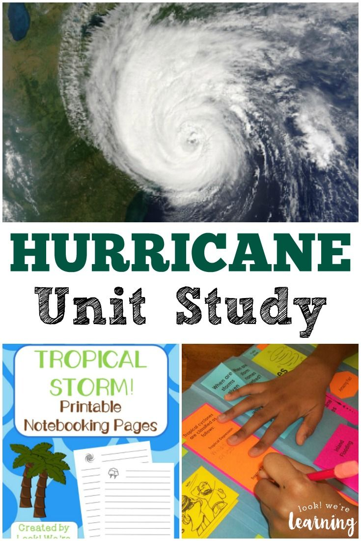 Learn About Extreme Summer Weather With This Hurricane Unit Study For Kids