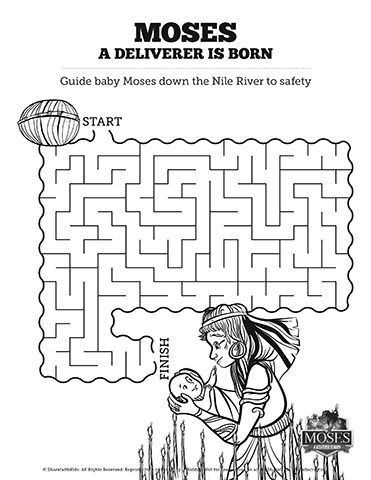 Exodus 2 Baby Moses Bible Mazes: Lead baby Moses through the dangers ...