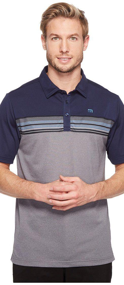 TravisMathew Otters Polo (Iris) Men's Clothing - TravisMathew, Otters Polo, 1MM018-400, Apparel Top General, Top, Top, Apparel, Clothes Clothing, Gift, - Fashion Ideas To Inspire