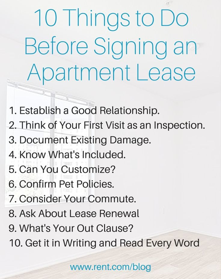 Before Renting An Apartment before signing a lease – things to do before signing a lease