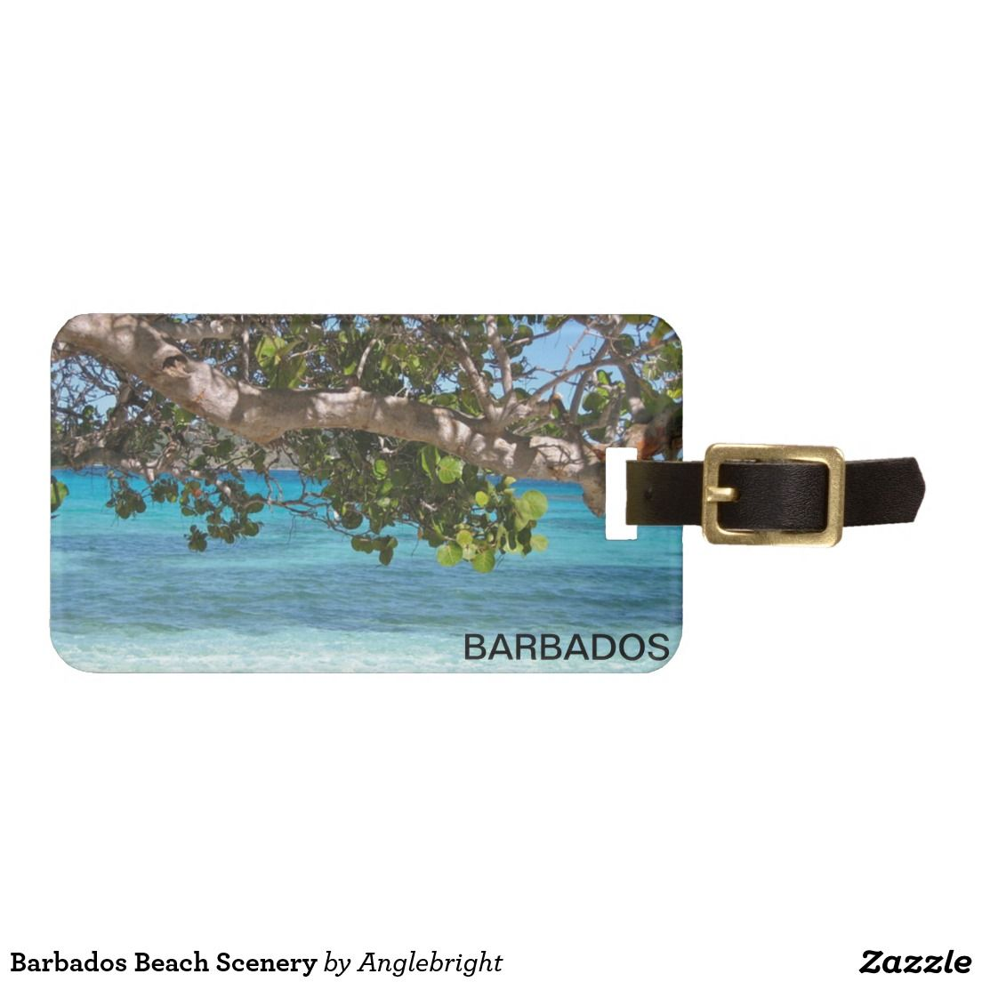 Barbados Beach Scenery Luggage Tags