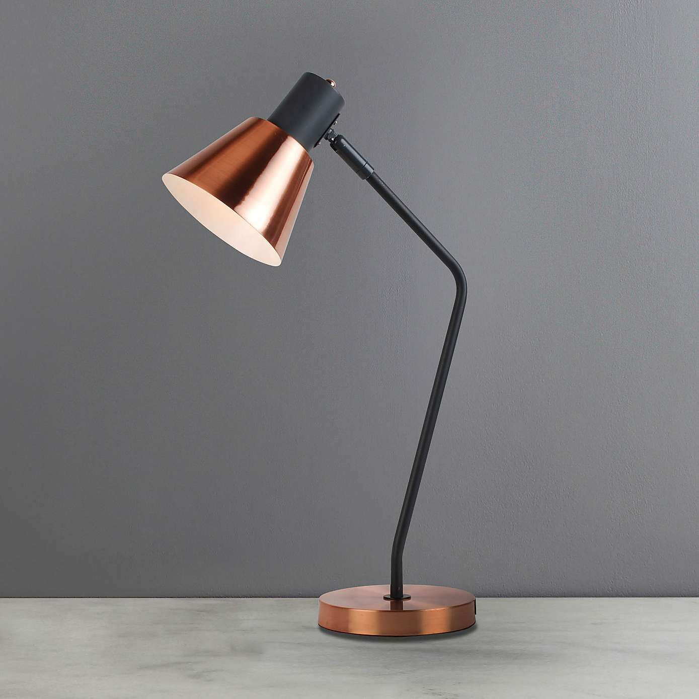 Soho Task Lamp Copper | Dunelm | Copper table lamp, Task