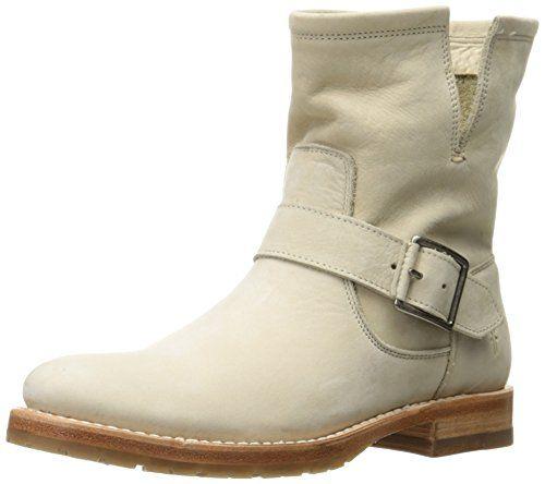 FRYE Women's Natalie Short Engineer Boot, Ivory, 5.5 M US...