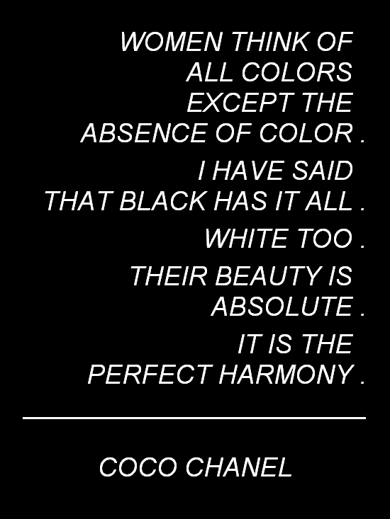 Coco Chanel Black And White Color Quote Quotes White Color