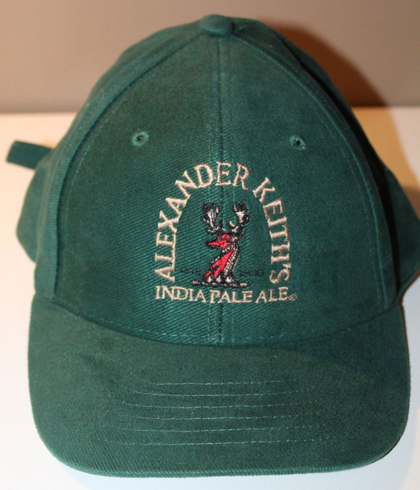 Alexander Keiths India Pale Ale Beer Hat Strap Back Cap Size-A-Just   WesternConcepts 4065560f8c4a