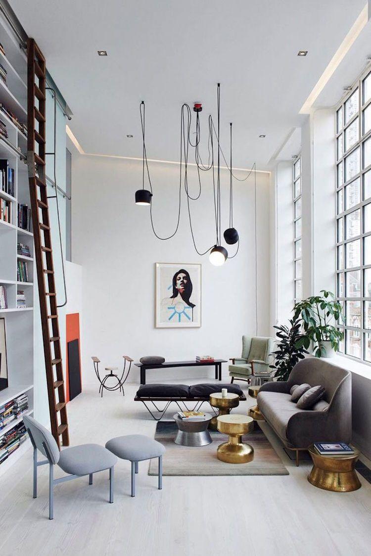 Kreative Wohnzimmergestaltung mit ausgefallenen Leuchten ...