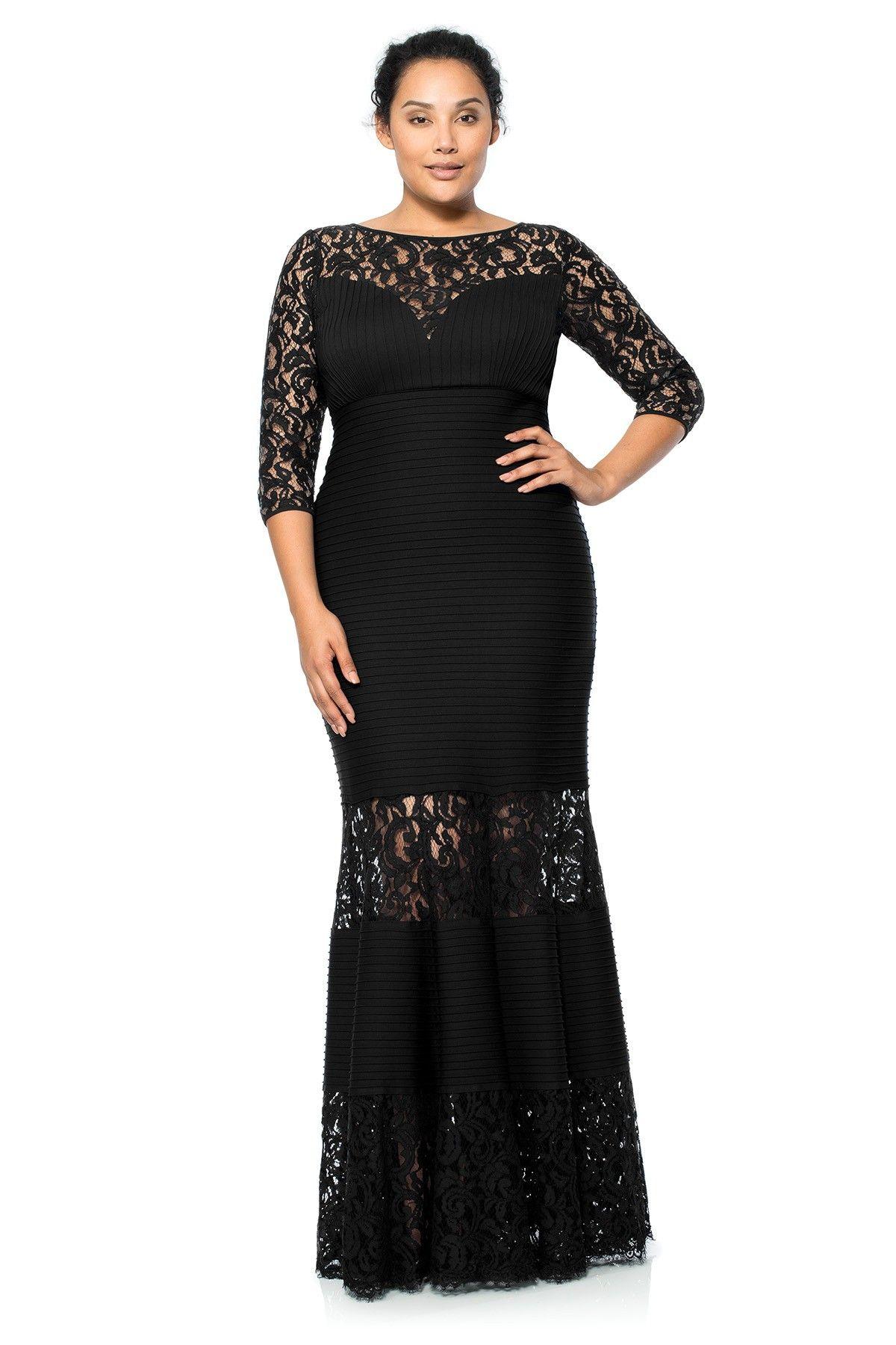 dc767764370f Pintuck Jersey Gown with Sweetheart Illusion Neckline - PLUS SIZE | Tadashi  Shoji