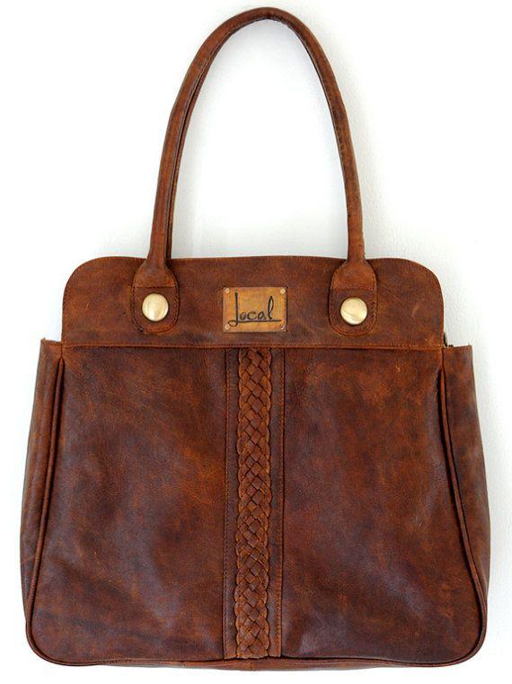 FREEDOM. Handmade leather handbag / shoulder bag. Plaited detail ...