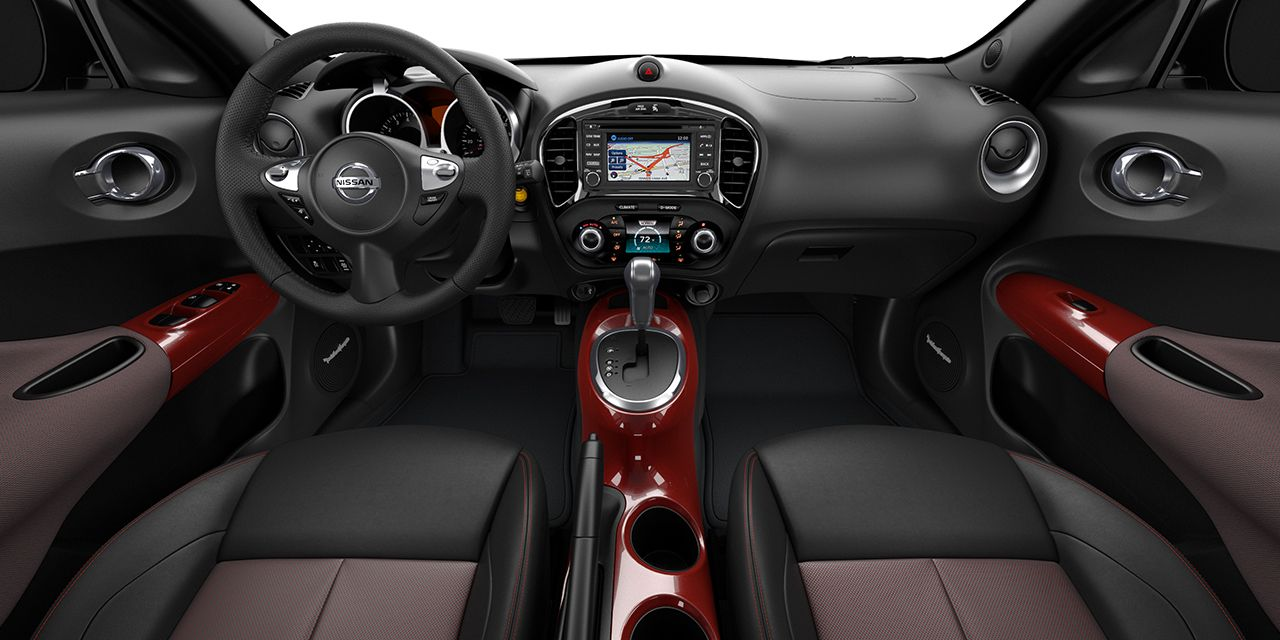 2017 Nissan Juke with Black and Red leather interior ...