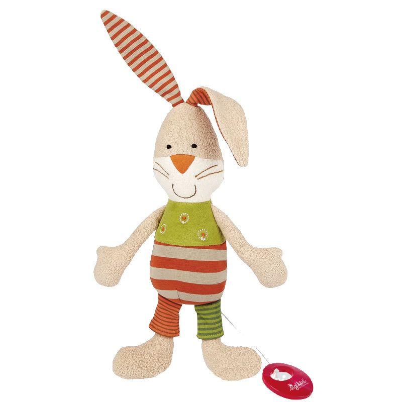 Organic Musical Bunny Stuffed Animal by Sigikid | Organic ...