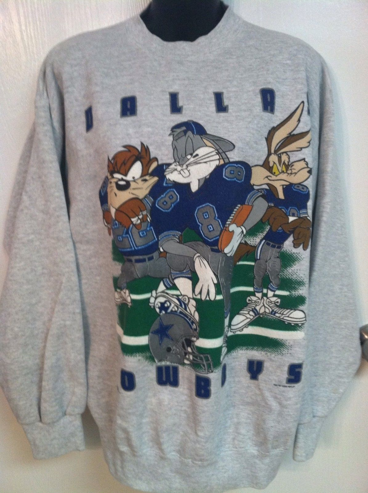 58643c7f DALLAS COWBOY LOONEY TUNES SWEATSHIRT VINTAGE MENS L XL | Dallas ...