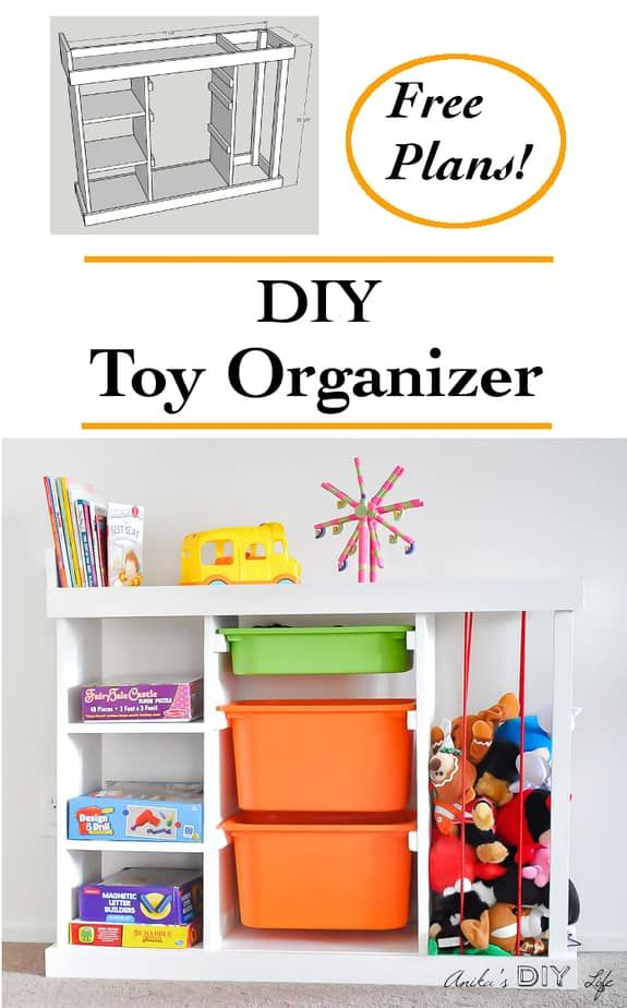 DIY Toy Organizer - The Ultimate Toy Storage Solution (with Plans) images