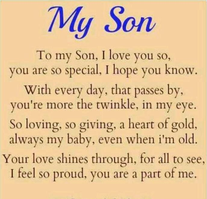 I Love You Dwayne And We Are Very Proud Of You My Son Quotes I Love My Daughter I Love My Son