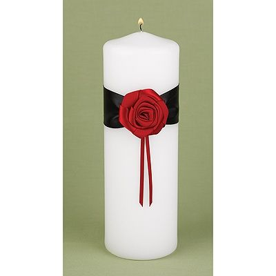 Dramatic Rose Unity Candle | Invitations By Dawn