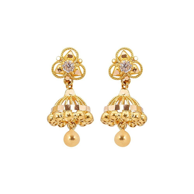 Buy Sree Kumaran Thangamaligai 22k Yellow Gold Stud
