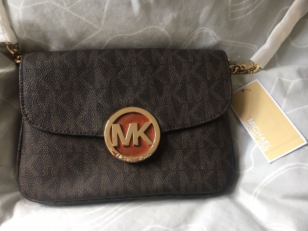 1c2846b73ba3b7 MICHAEL KORS Fulton Logo Crossbody Brown Brand New with tags #fashion # clothing #shoes