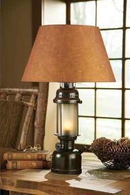 White River Large Lantern Table Lamp Table Lamp Lodge Bedroom Large Lanterns