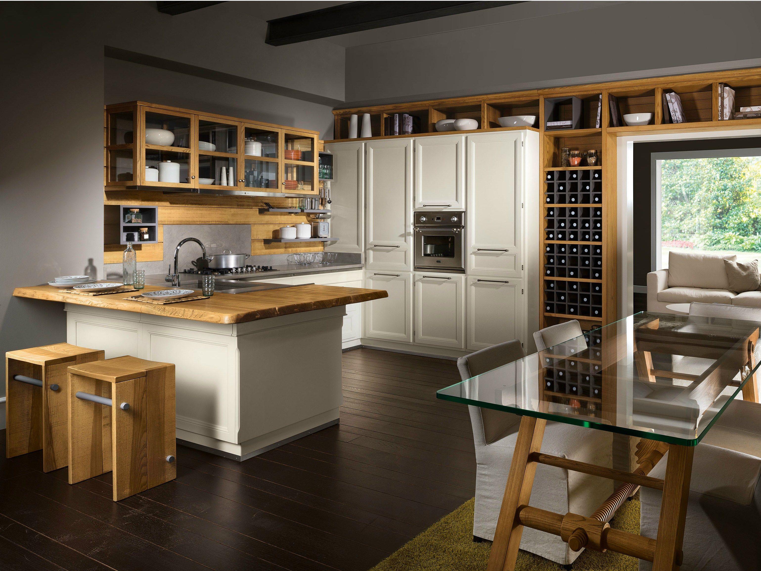 Cocina integral con península LIVING VERANDA by L\'Ottocento | Loft ...