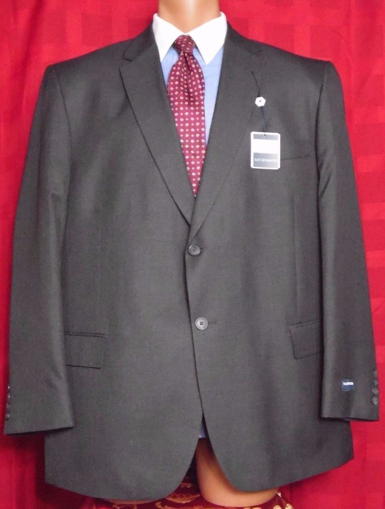 Saddlebred Charcoal Black 100% Wool 2 button Sport coat Size: 50R New with tags #Saddlebred #TwoButton