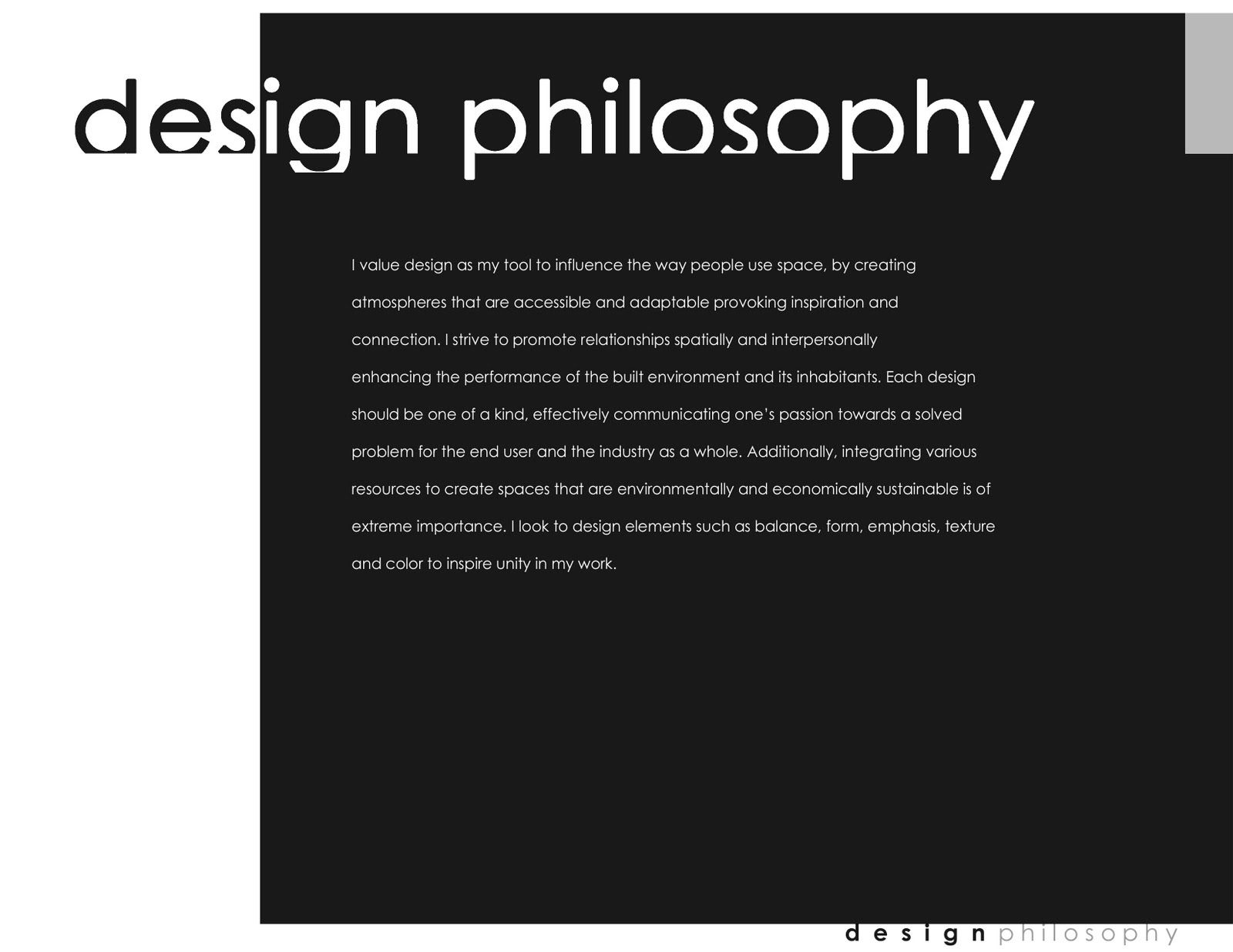 design philosophy portfolio interior design design philosophy design philosophy1600 1236portfolio