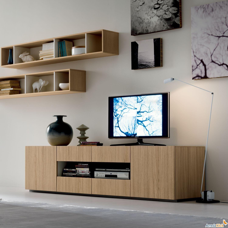 Porta Tv Start Con Vano Abierto Central Arredaclick Muebles