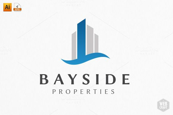 Bayside Real Estate Logo Template | Logo templates and Real estate ...