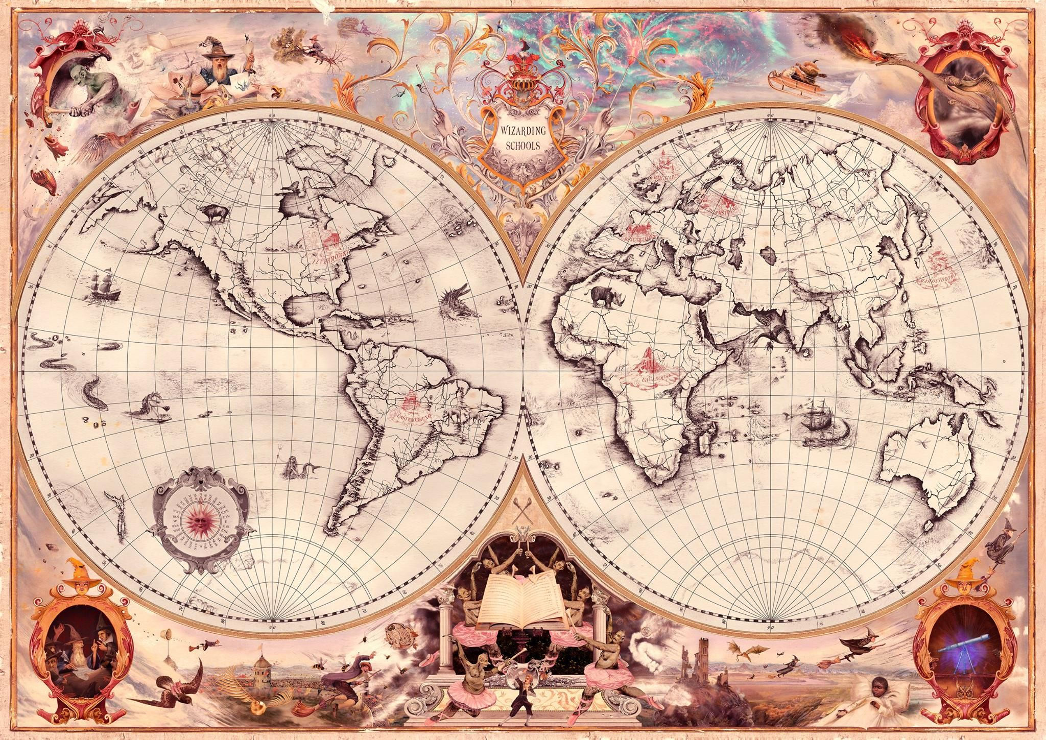Wizarding Schools Map From Pottermore Escuela De Magia Harry Potter Hogwarts