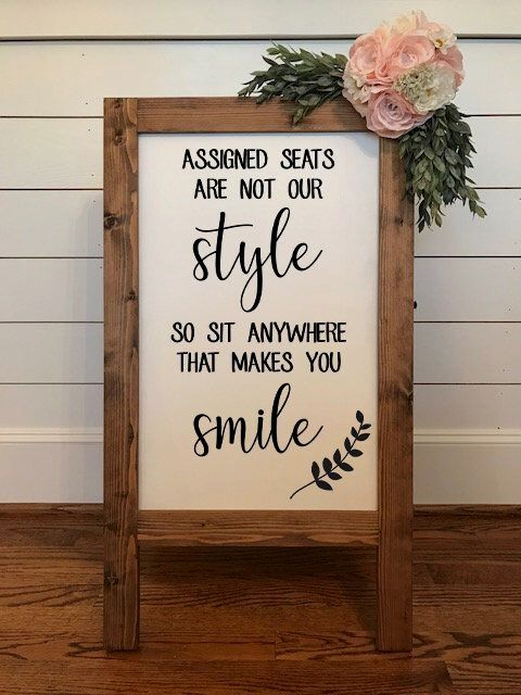 Assigned Seats are Not Our Style No Seating Plan Wedding | Etsy