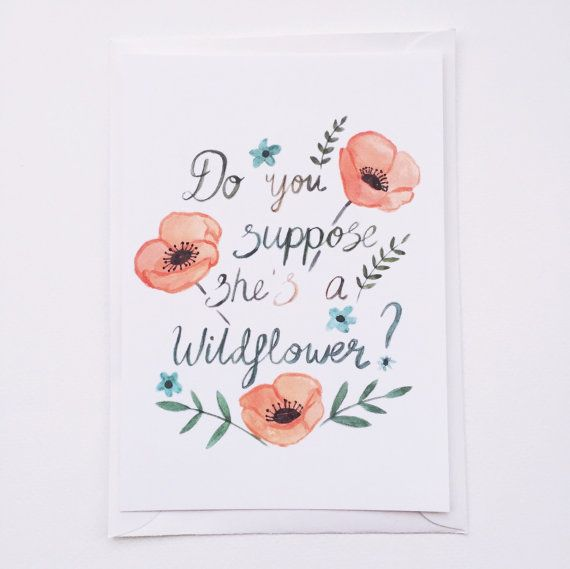Do You Suppose She's a Wildflower  Postcard by sarahfrancesart
