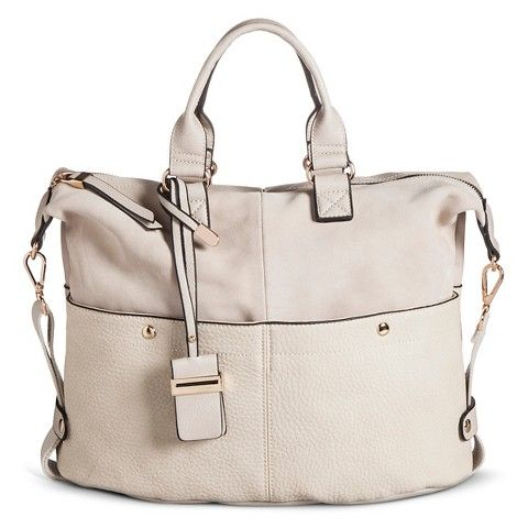 Women's Tote Handbag with Suede Texture Detail and Crossbody Strap