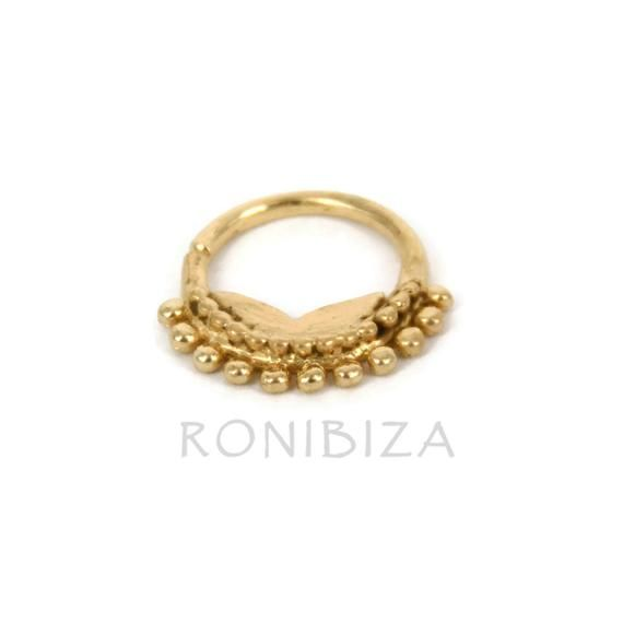 Gold Septum Ring - Septum Jewelry - Septum Piercing # @EtsyMktgTool #nosering #nosepiercing #indianseptumring #tribalseptum #tragusring
