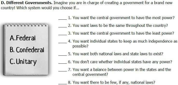 The Federal In Federalism With Images Social Studies Lesson
