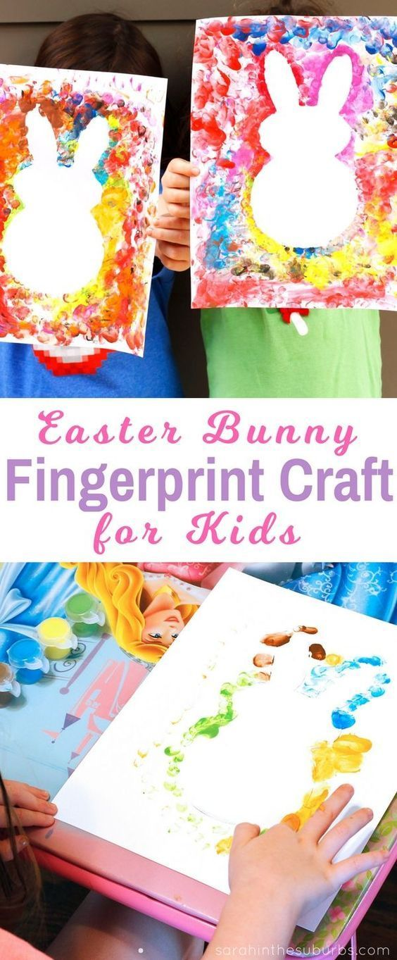 Photo of Simple Finger Paint Easter Craft – Sarah in the Suburbs –  Easter bunnies are so…