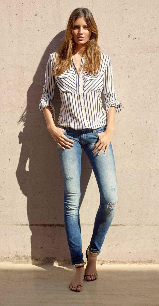 skinny jeanshose von mavi damen jeans jeans damen. Black Bedroom Furniture Sets. Home Design Ideas