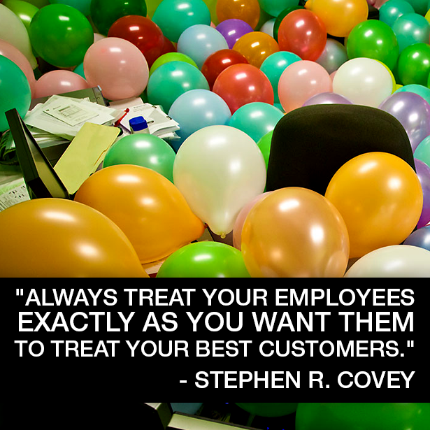 """""""Always treat your employees exactly as you want them to treat your best customers."""" - Stephen R. Covey.  Philly Temps & Perm is all about this!!!"""