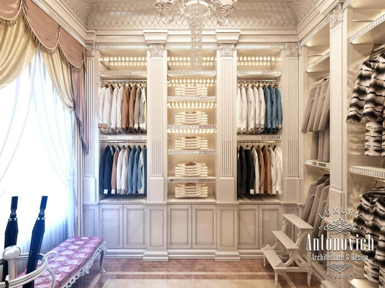 Beautiful dressing room design in dubai by luxury antonovich design - Interior Design Company In Dubai Consultans And Designers Luxury Antonovich Design Interior Design Pinterest Interior Design Companies