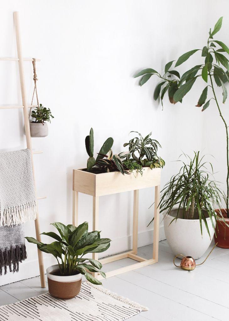 DIY Plant Box Stand #diyinterior