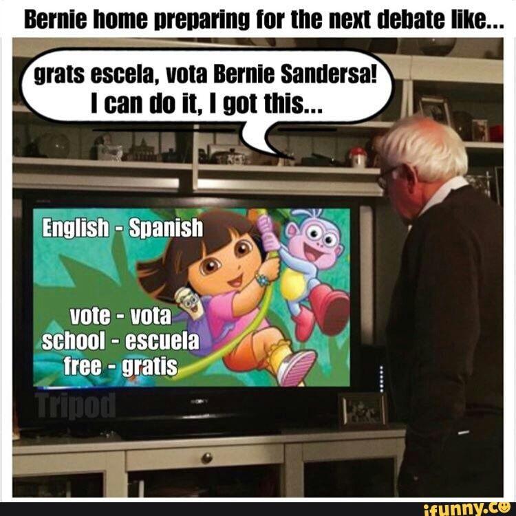 Bernie Home Nrenarinu Tor Lhe Next Debate Like Urals Escala Vola Bernie Sandersa I Can Do It I Got This Ifunny I Can Do It Debate I Got This