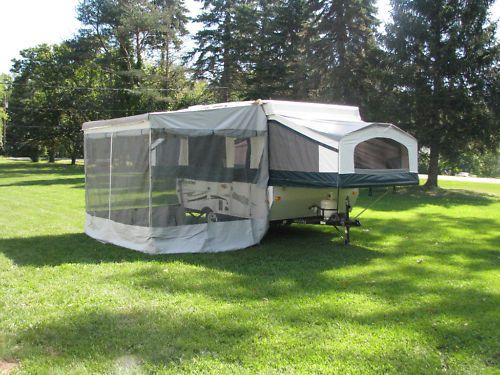 New 11 A E Trimline Zipper Screen Room With Privacy Panels Only Fits Popup Privacy Panels Add A Room Pop Up Awning