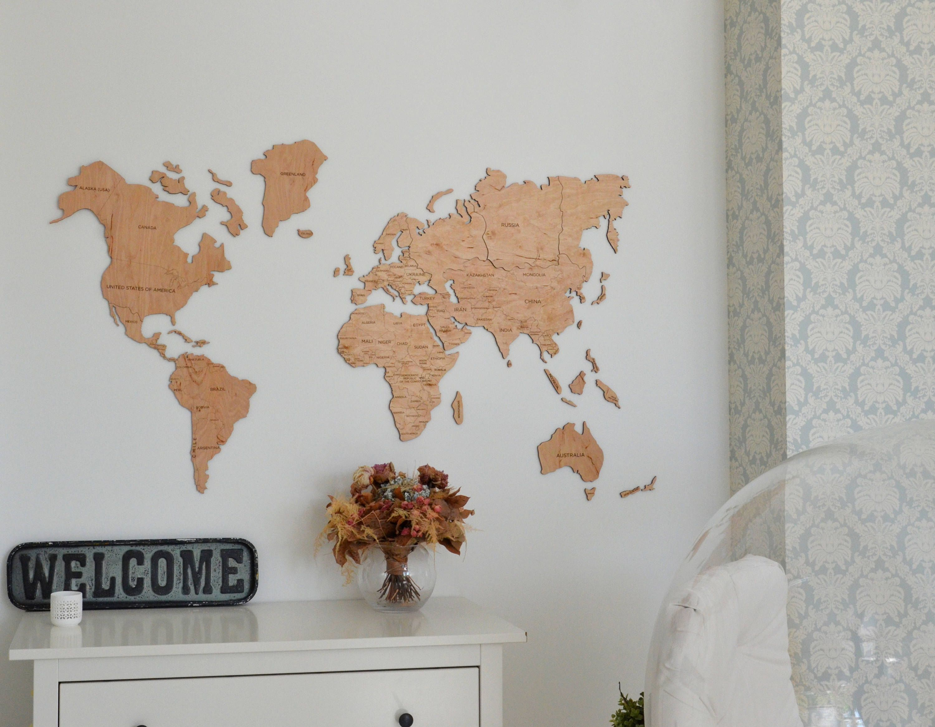 Office wall decor wooden world map of the world canvas large travel office wall decor wooden world map of the world canvas large gumiabroncs Image collections