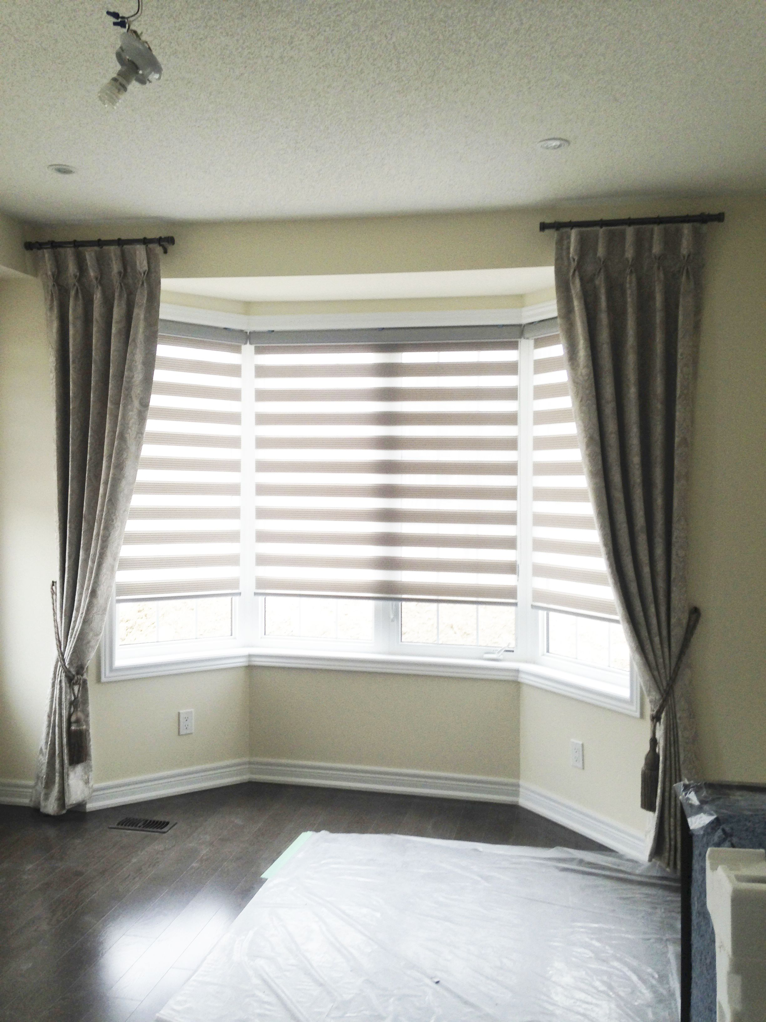 Side Panel Drapes Can Be Used To Frame Bay Windows As Well This