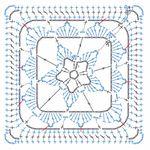 Мобильный LiveInternet Квадратные мотивы с цветами по схемам | Yulya_K - Дневник Yulya_K |