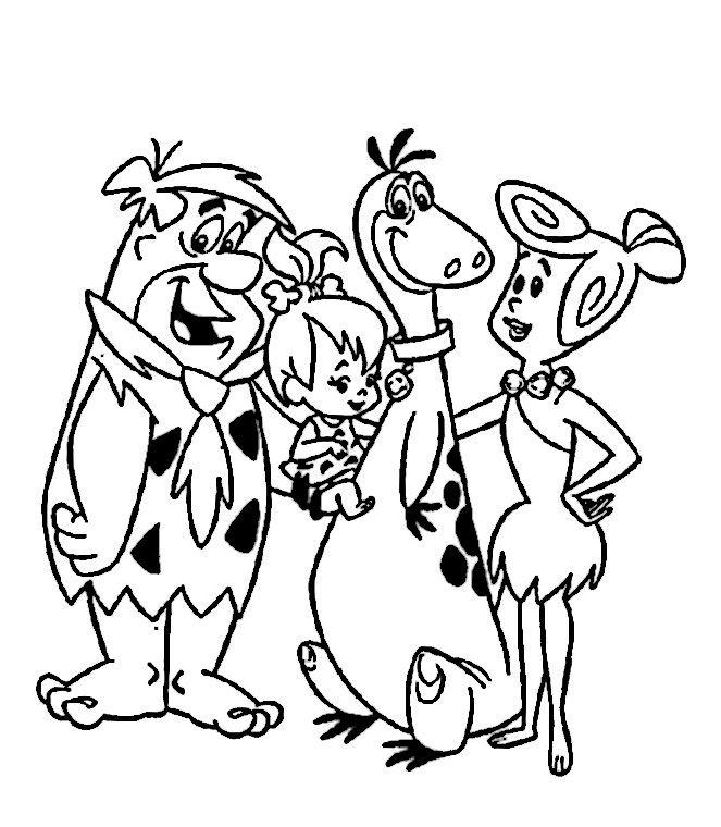 The Flintstones Coloring Pages 41 Paginas Para Colorir Da Disney