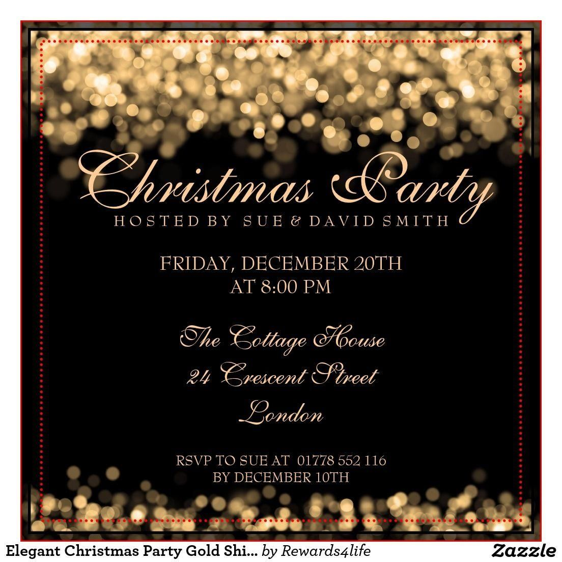 5 Office Party Invitation Template in 5  Elegant christmas