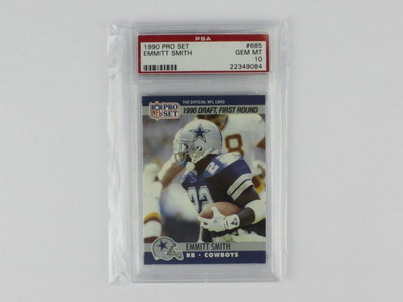 1990 Nfl Pro Set Dallas Cowboys Emmitt Smith Gem Mint Psa 10