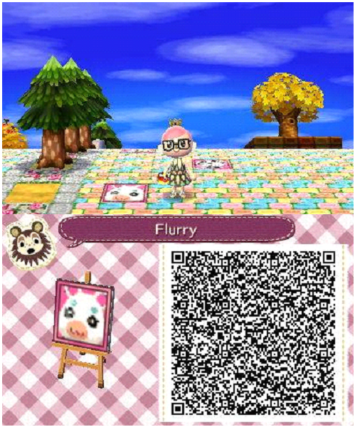 Acnl Animal Crossing New Leaf Qr Codes Villager Portraits Tiles