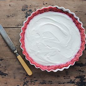 White Chocolate and Yogurt Pie with Beetroot Pastry | Veggie Desserts